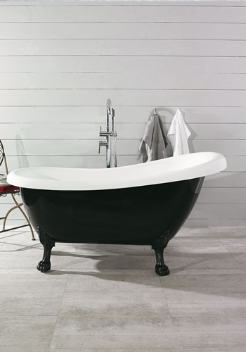 BADEKAR OLD ENGLAND 156 SVART/HVIT, ANTIQUE BLACK FØTTER